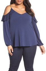 Michael Michael Kors Plus Size Women's Ruffle Cold Shoulder Top