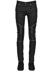 Saint Laurent 15Cm Low Rise Stretch Denim Biker Jeans