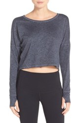 Zella Ready Or Not Crop Pullover Tee Multi