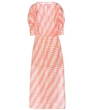 Closed Printed Cotton Dress Red