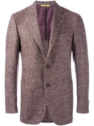 Canali Two Button Blazer Red