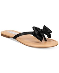 Inc International Concepts Women's Mabae Bow Flat Sandals Only At Macy's Women's Shoes Black