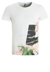 United Colors Of Benetton Print Tshirt White