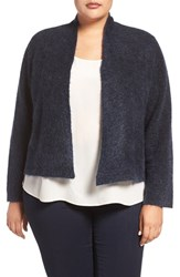 Eileen Fisher Plus Size Women's Melange Knit Crop Cardigan