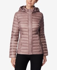 32 Degrees Packable Hooded Puffer Coat Natural Blush