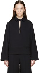 Christophe Lemaire Navy Collared Pullover