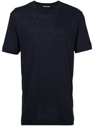 Neil Barrett Travel T Shirt Men Viscose Xl Blue