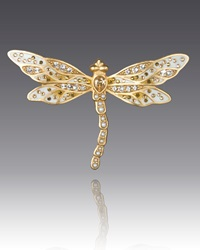 Bejeweled Dragonfly Pin Jay Strongwater