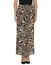 Michael Michael Kors Long Skirts Dark Brown
