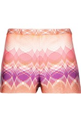 Missoni Crochet Knit Shorts Multi