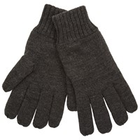 John Lewis Knitted Fleece Gloves Grey