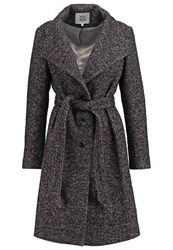 Noa Noa Classic Coat Black Iris Dark Blue