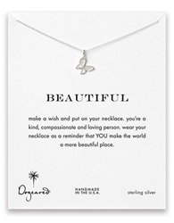 Dogeared Sterling Silver Butterfly Pendant Necklace