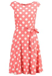 Wallis Spot Summer Dress Coral