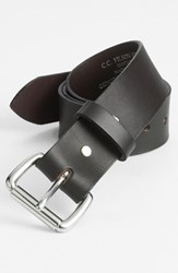 Men's Big And Tall Filson Leather Belt Brown Steel