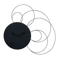 Progetti Liberty Wall Clock Black