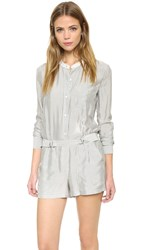 A.L.C. Mackay Striped Romper Eggshell Black
