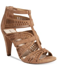 Alfani Women's Chloey Cutout Dress Sandals Only At Macy's Women's Shoes Camel
