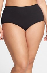 Plus Size Women's Nordstrom Stretch Cotton Briefs Black