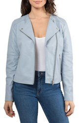 Bagatelle 'S Leather Biker Jacket Mineral Blue