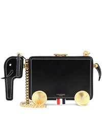Thom Browne Leather Shoulder Bag Black