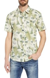 Patagonia 'Go To' Slim Fit Short Sleeve Sport Shirt Halfdome Bear Toasted White