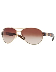 Ray Ban Sport Wrap Sunglasses Brown