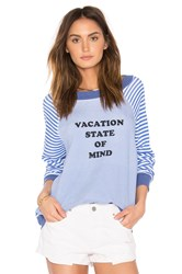 Wildfox Couture Vacation State Of Mind Top Blue