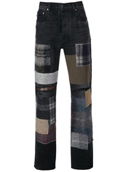 Amiri Mohair Patchwork Loose Jeans 60