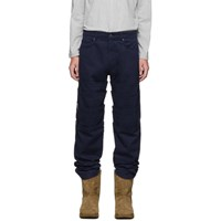 Y Project Navy Layered Trousers