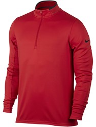 Nike Men's Dri Fit Half Zip Jumper Red