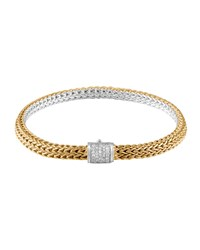 Classic Chain Gold And Silver Diamond Extra Small Reversible Bracelet John Hardy