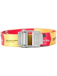 Off White Industrial Buckled Belt Red