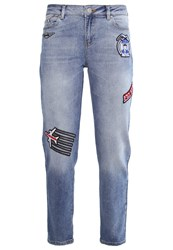 Karl Lagerfeld Jets Relaxed Fit Jeans Mid Blue Blue Denim