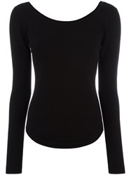 Christophe Lemaire Fitted Knitted Top Black