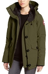 Canada Goose Women's 'Rideau' Slim Fit Down Parka Military Green