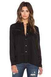 J Brand Irina Button Up Shirt Black