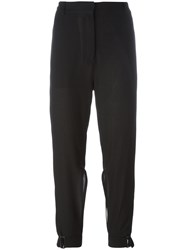 Ann Demeulemeester Ankle Tie Trousers Black