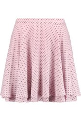 Rebecca Minkoff Ruffled Polka Dot Crepe Mini Skirt Lavender