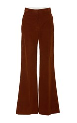 Brock Collection Pamela Flared Corduroy Pant Brown