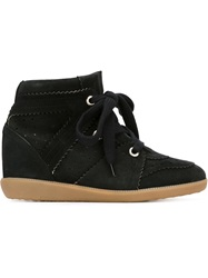 Isabel Marant 'Bobby' Concealed Wedge Sneakers Black