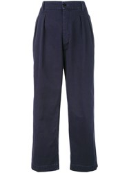 The Seafarer Cropped Trousers Blue