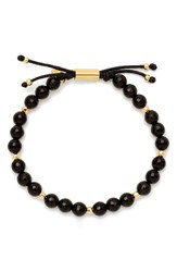 Gorjana Women's Power Semiprecious Stone Beaded Bracelet Black Onyx Gold