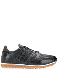 Alberto Fasciani Perforated Detail Sneakers Black