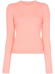 The Elder Statesman Neon Pink Billy Cropped Knitted Cashmere Jumper