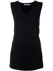 Alexander Wang T By V Neck Tank Top Black