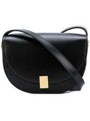 Victoria Beckham Contrast Satchel Women Calf Leather Calf Suede One Size Black