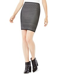 Bcbgmaxazria Pavel Geometric Pattern Pencil Skirt Black