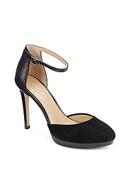 Saks Fifth Avenue Brianna Ankle Strap Heels Black
