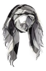 Nordstrom Women's Academy Check Wool And Cashmere Scarf
